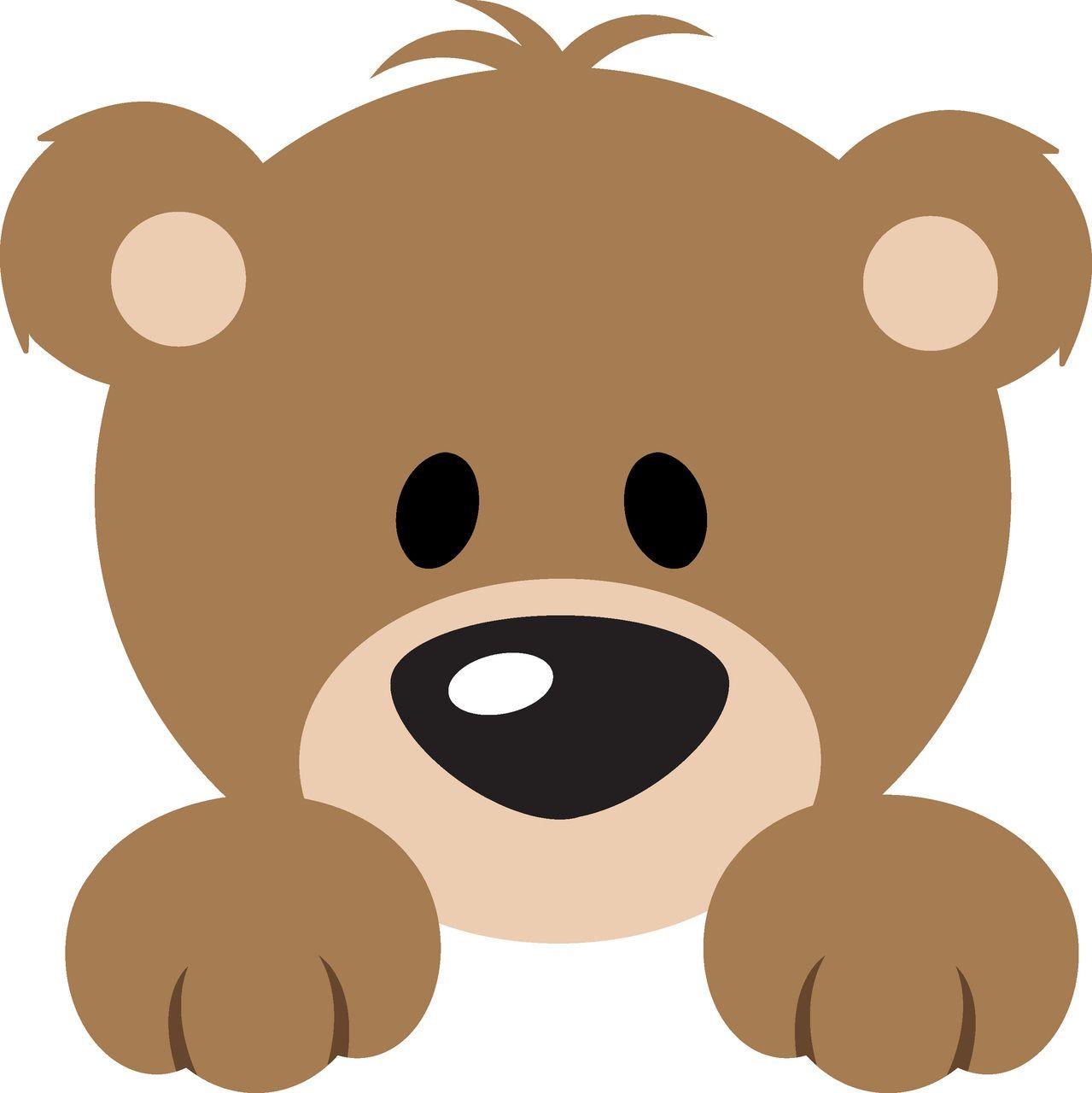 1279x1280 Bear Peeker L Svg Cutting File Selen Cutting Files