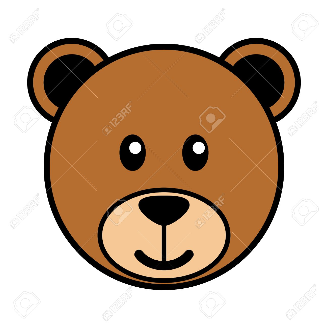 1300x1300 Brown Bear Clipart Face