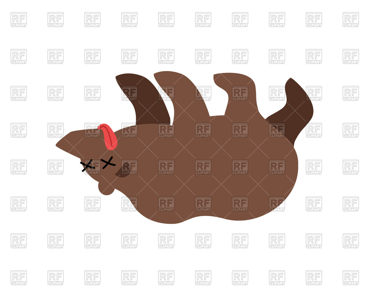 1200x960 Dead Cartoon Bear Royalty Free Vector Clip Art Image