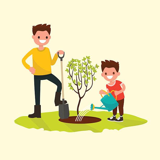 612x612 Royalty Free Family Gardening Clip Art Vector Images Garden Your