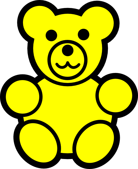 486x593 Yellow Bear Clip Art