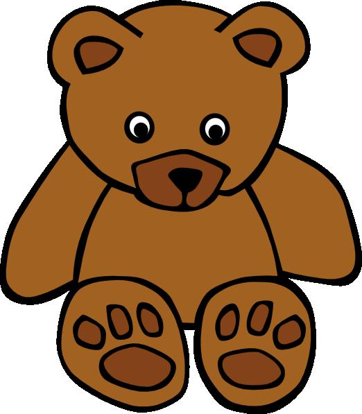 522x597 Baby Brown Bear Clip Art
