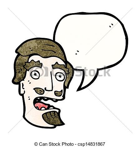 449x470 Cartoon Shocked Man With Goatee Beard Clip Art Vector