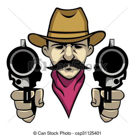 450x452 Cowboy Clipart Bearded 3195619