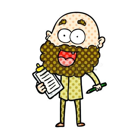 450x450 Happy Man Clip Art Cartoon Crazy Happy Man With Beard And Clip