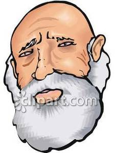 225x300 Old Man With Beard Clipart