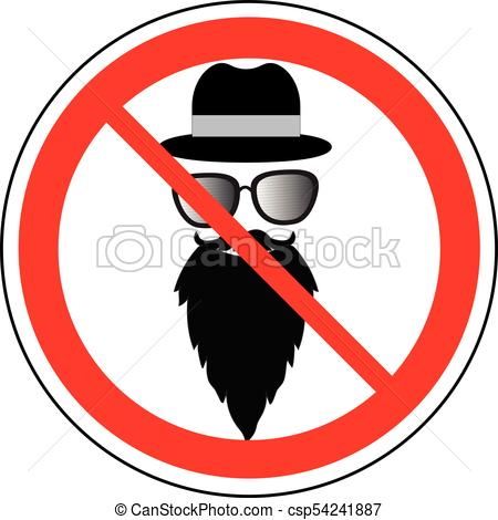 450x470 Prohibition Sign Of Wearing Hat, Glasses And Beard, Vector Vector