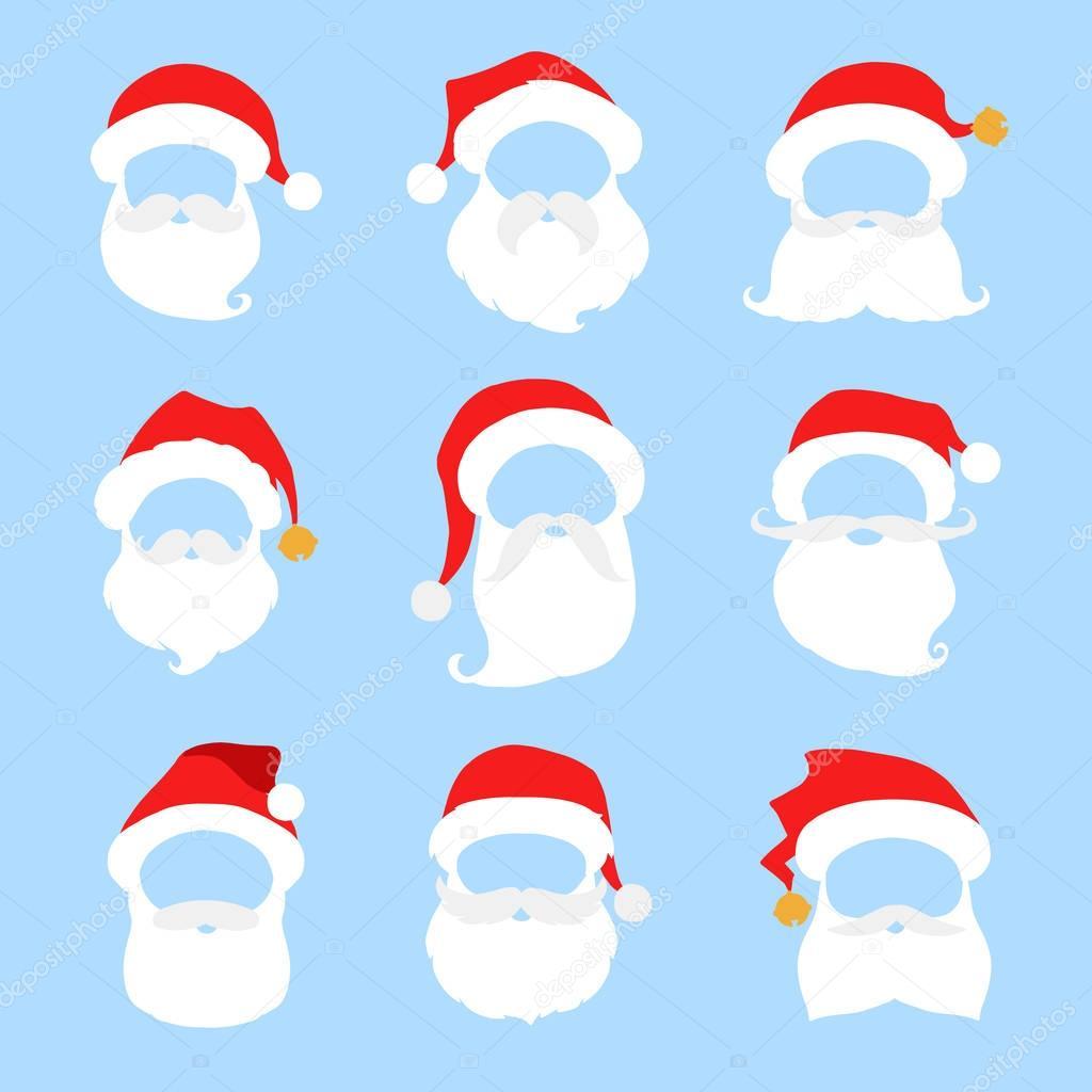 1024x1024 Santa Hat Beard Clipart Amp Santa Hat Beard Clip Art Images