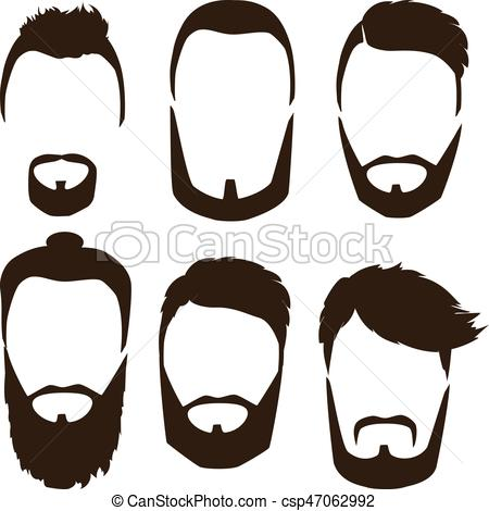 450x470 Set Of Mens Hairstyles, Beards And Mustaches. Gentlmen Eps