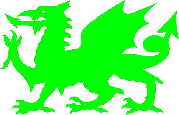 600x386 Green Dragon Clipart