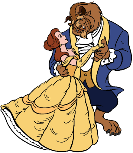 440x504 Belle And The Beast Clip Art Disney Clip Art Galore