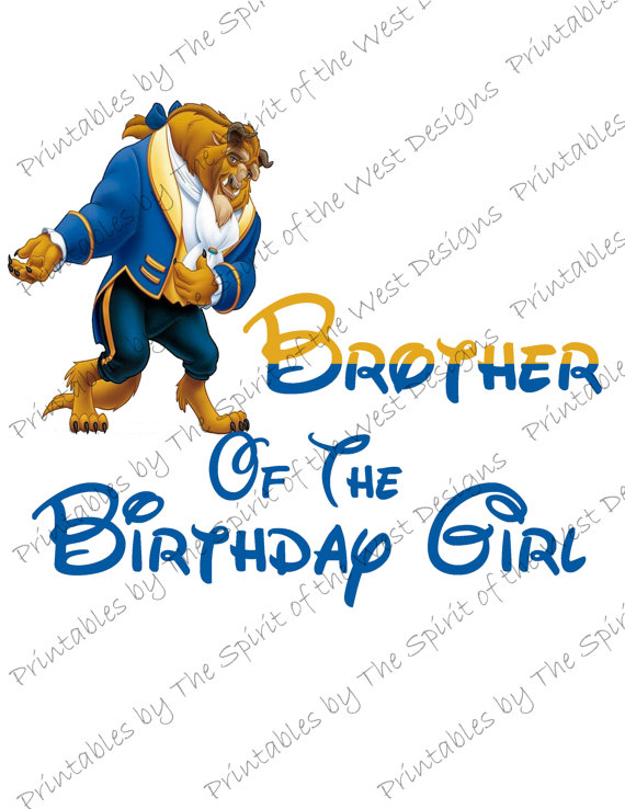 570x738 Brother Of The Birthday Girl Image Use As Printable Iron