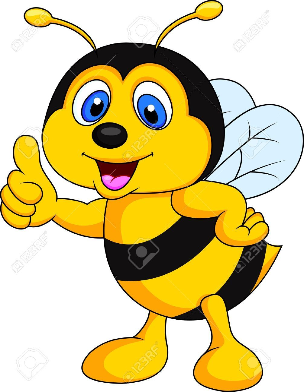 1006x1300 Bee Cartoon Thumb Up Stock Photo, Picture And Royalty Free Image