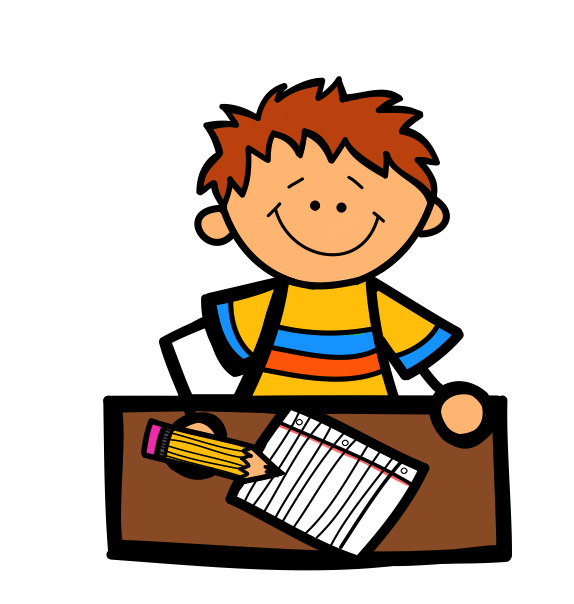 574x604 Child Writing Clipart