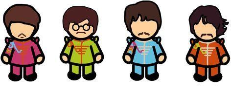 472x195 Los Beatles Clipart