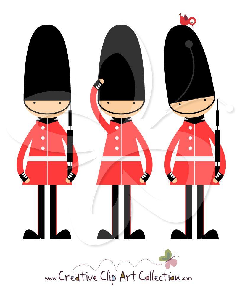 801x984 An Adorable Buckingham Palace Queens Guard Clip Art Clipart Set By