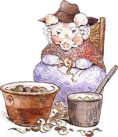 385x449 Beatrix Potter Pig Pigs Of Note Pig Art