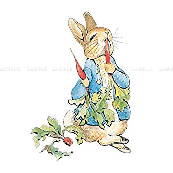 350x350 Helen Beatrix Potter Peter Rabbit Radishes Framed Art Print