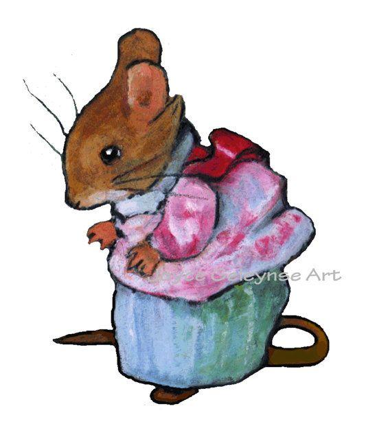 533x640 My Oil Pastel Illustration Of Dear Mrs. Tittlemouse, After Beatrix
