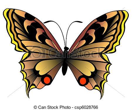 450x376 Beautiful butterfly clip art vector