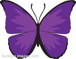 300x233 Purple Butterfly Clipart Clipartlook