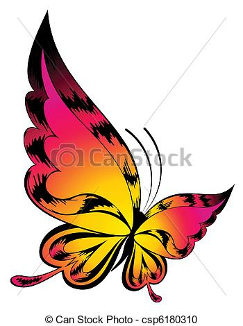 350x470 Vector Beautiful Butterfly Vector Clipart