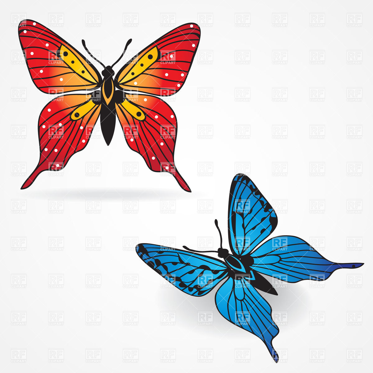 1200x1200 Beautiful Blue Butterfly Clip Art