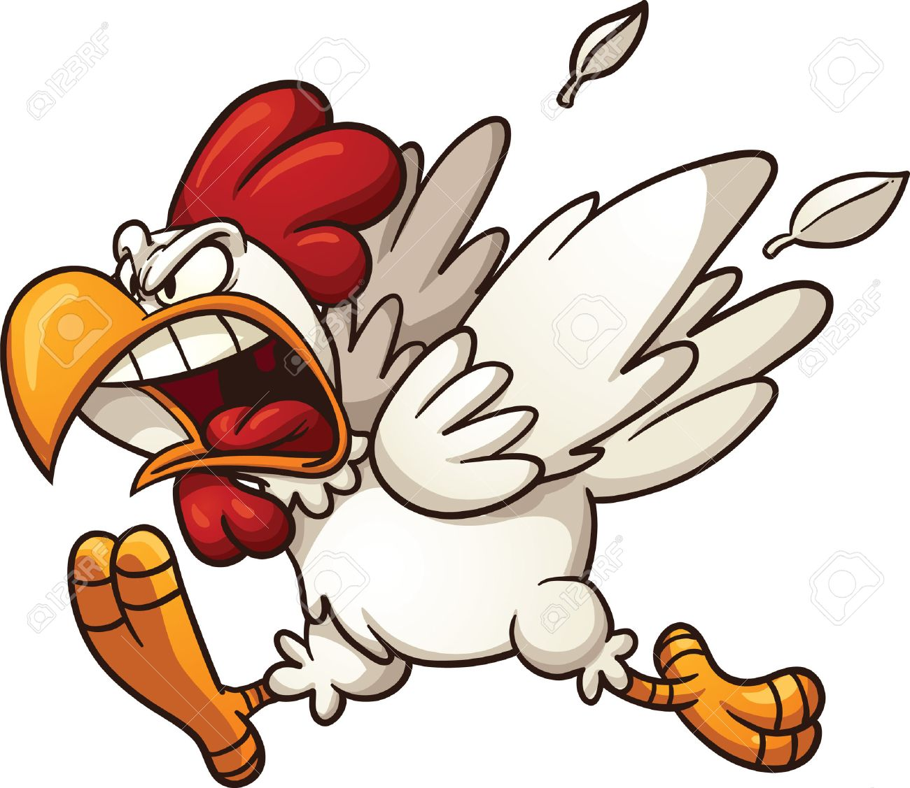 1300x1127 Beautiful Design Ideas Angry Clipart Cartoon Chicken Vector Clip