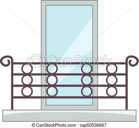 450x415 Beautiful Balcony Icon, Cartoon Style. Beautiful Balcony Clip