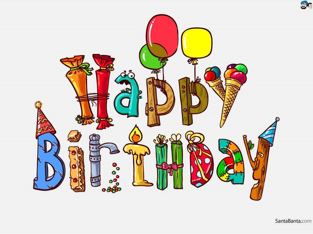 1024x768 October Birthday Clipart Happy Birthday Beautiful Clipart