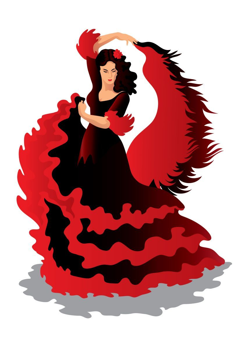 818x1158 Flamenco Clipart Clipart Meilleur Flamenco Music Dance