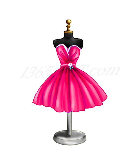 570x671 Pink Dress Clipart Beautiful Dress