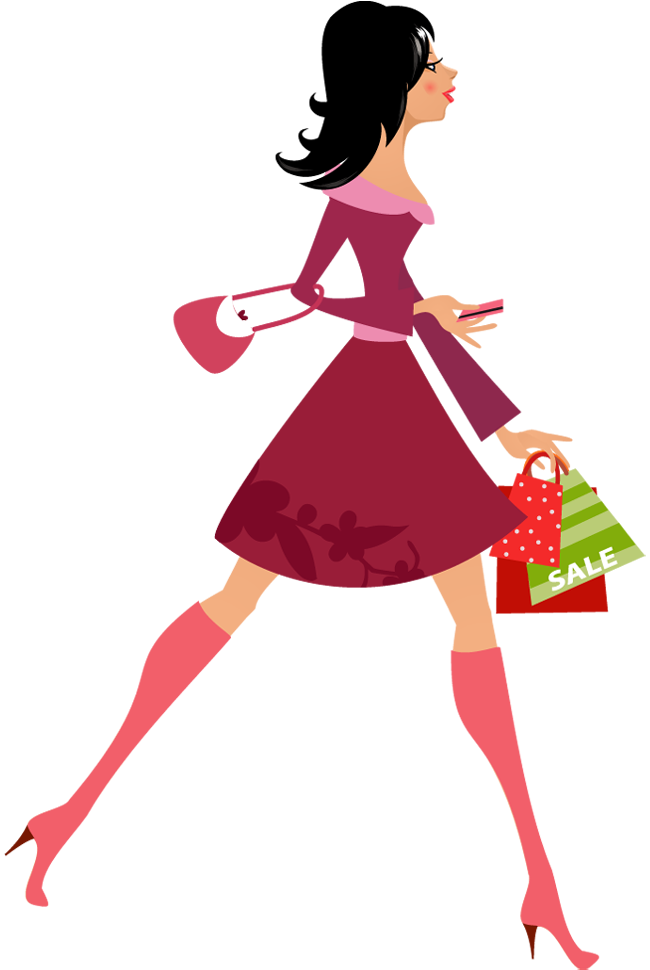 650x970 Shopping Bag Clipart Pretty Girl