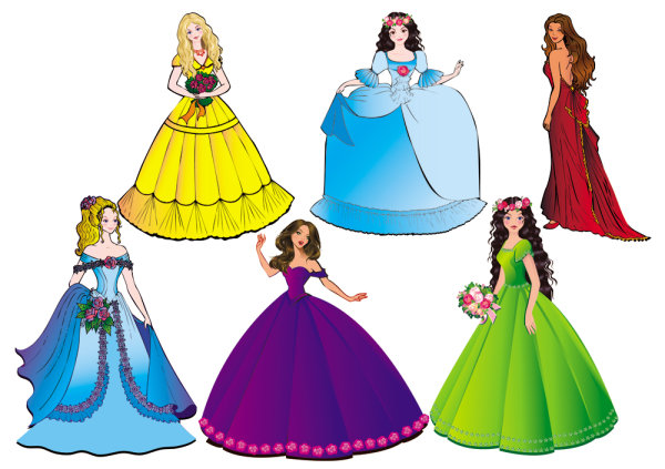 600x423 Beautiful Clipart Princess Dress