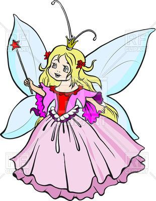 310x400 Beautiful little princess with magic wand