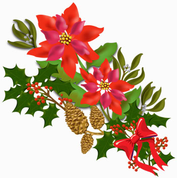 350x352 Beautiful Christmas Christmas Flower Clip Art Merry Christmas