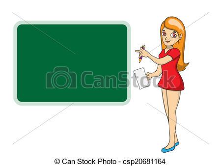 450x338 Beautiful Teacher Woman In Front Of Chalkboard Vector Clip Art