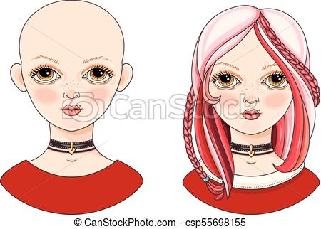 450x322 Avatar beautiful girl with exotic hairstyle. Avatar clipart