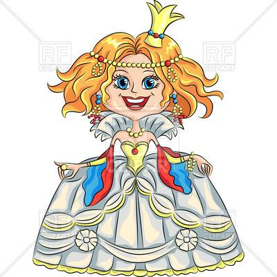 400x400 Fairytale Cartoon Smiling Princess