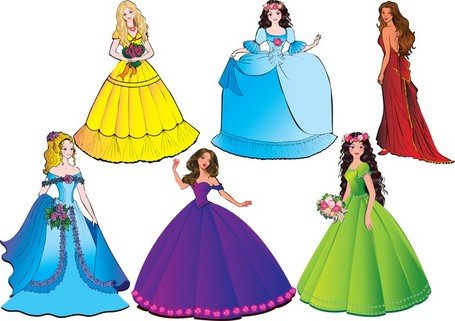 455x321 Free Beautiful Princess 04 Clipart And Vector Graphics