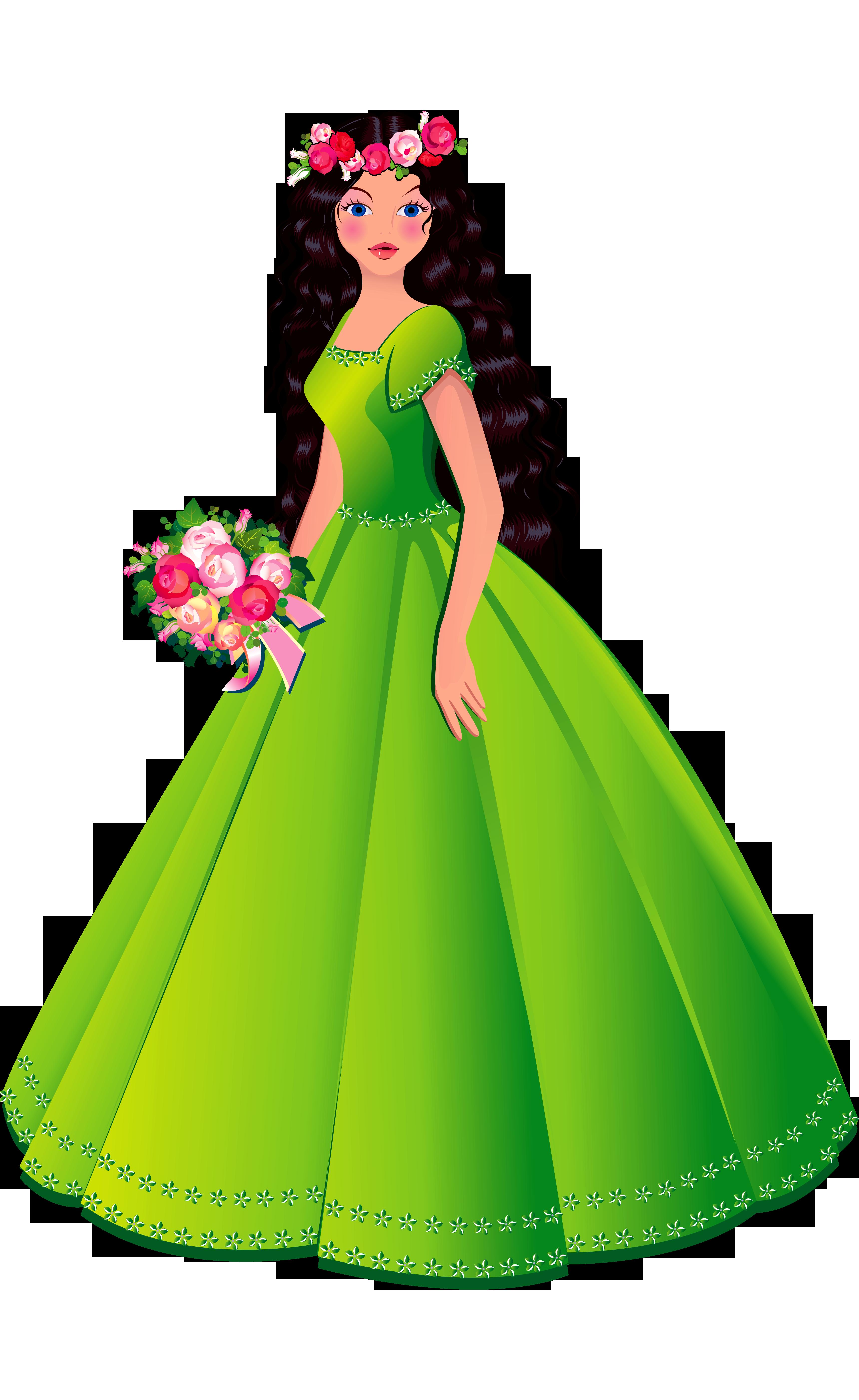 3440x5604 Princess Dresses Clipart