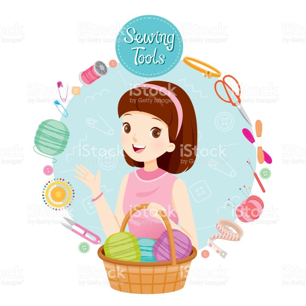 1024x1024 Girl Clipart Knitting 3565135