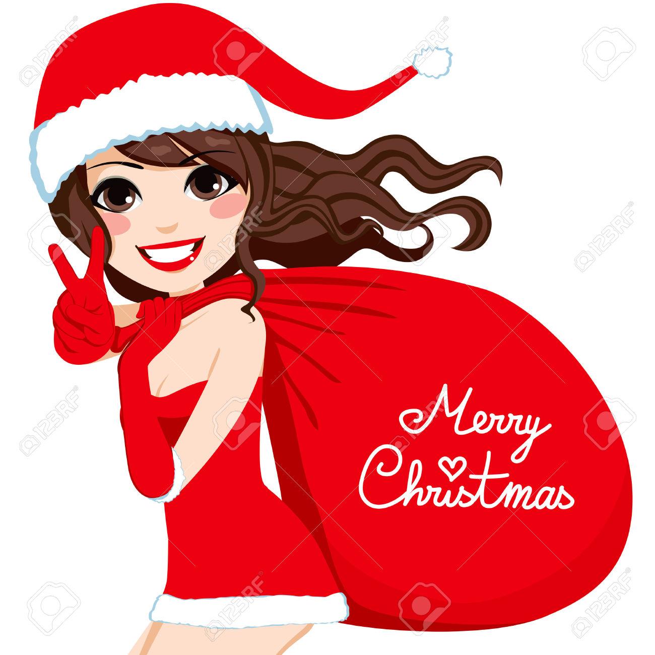 1300x1300 Woman Clipart Santa Claus