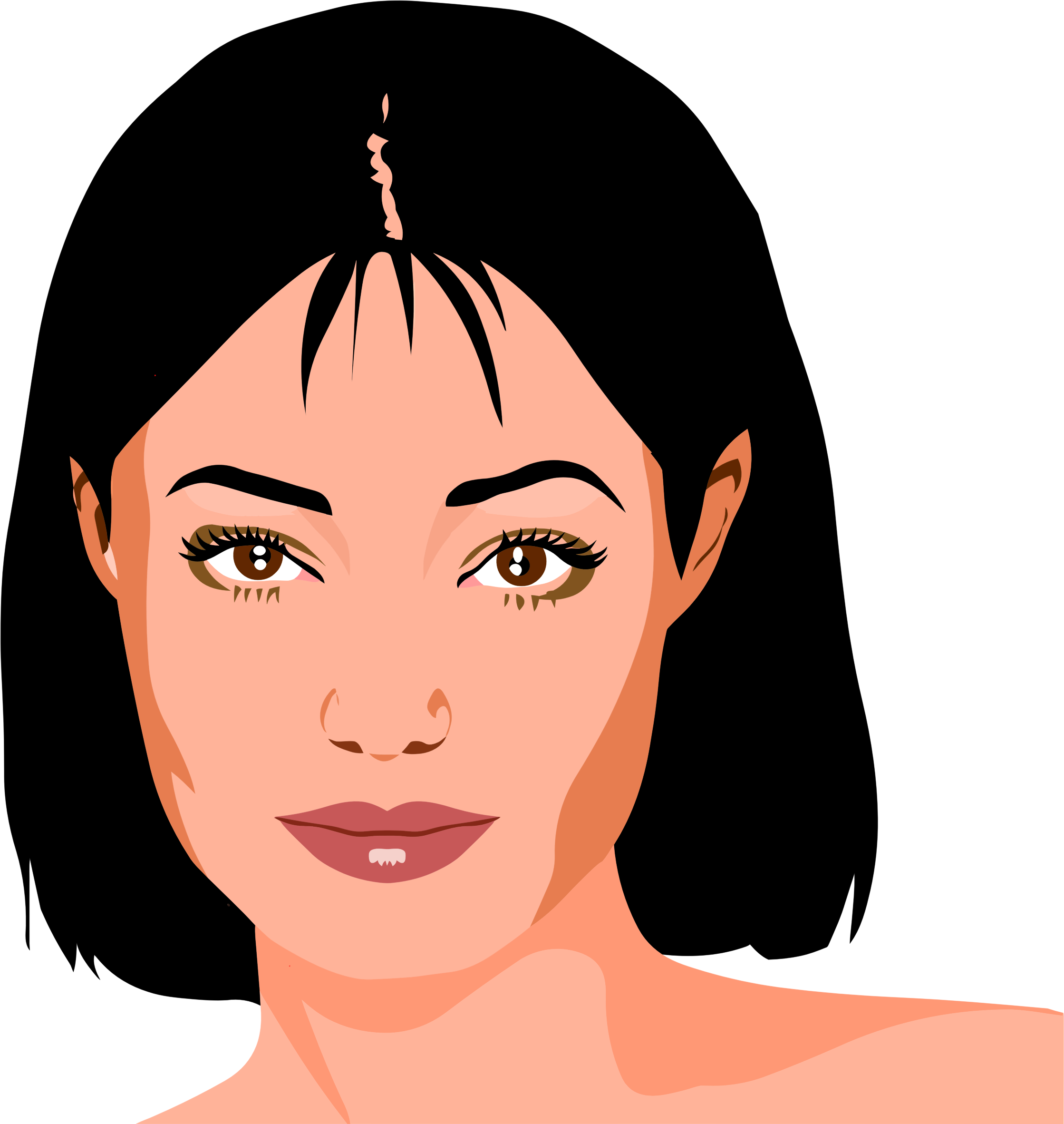 2238x2363 Beautiful Woman's Portrait Icons Png
