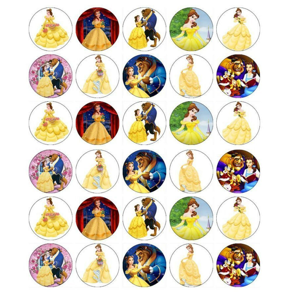 1000x1000 Beauty And The Beast Edible Cupcake Toppers Beauty And The Beast