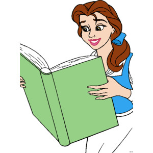 300x300 Free Disney Clipart Belle Reading