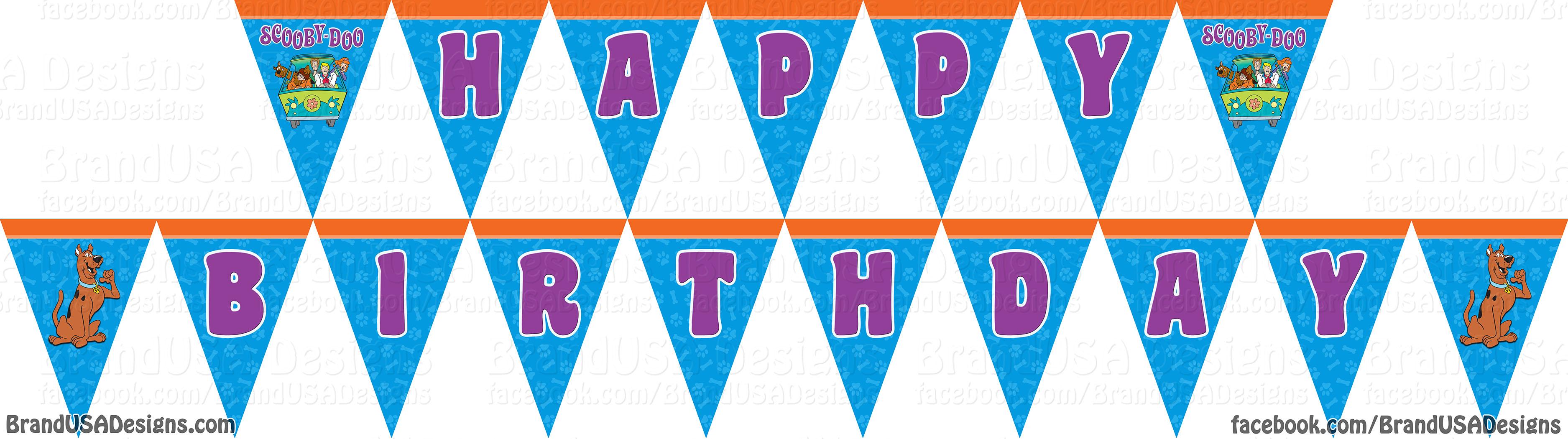 3750x1050 Birthday Clip Art Happy Birthday Banner ~ Frames ~ Illustrations