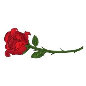 300x300 Red Rose Clipart Beauty And The Beast Rose Free Collection