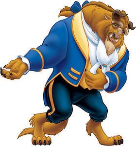 280x300 Beauty And The Beast Beast Disney Characters Vinyl Kids Room