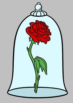 236x332 Image Result For Beauty And The Beast Rose Tattoo Painted Rock